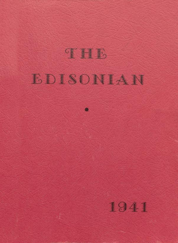 Cover image of Edison High School's yearbook, the Edisonian.