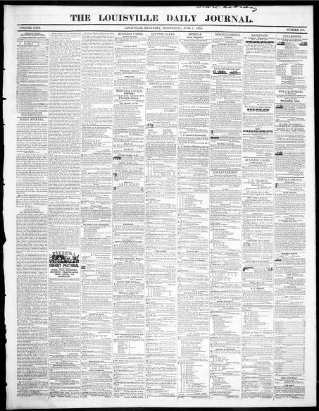 Louisville Daily Journal Louisville Ky 1833 1853 06 01